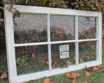 32 x 19 Vintage Window sash  6 pane  from 1953