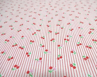 Japanese Fabric LECIEN Small Cherry Red FQ