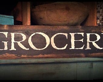 Grubby prim sign-GROCERY