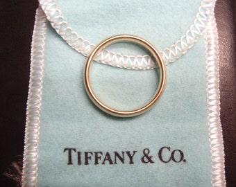 SPRING SALE Solid Gold Tiffany & Co. Comfort Fit Ring Wedding Band 14K Size 11