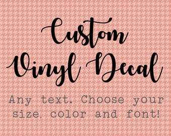 Custom Vinyl Decal Etsy - Custom vinyl decals canada