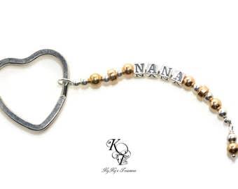 Grandma Keychain Custom Keychain Personalized Keychain Mothers Day Gifts for Her Name Keychain Personalized Keyring Mom Gift Nana Gift