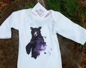 SIZE LARGE Black Bear, black bear shirt, black bear clothing, baby boy shirt, boy shirt, kids bear shirt, kids shirt, bear shirt