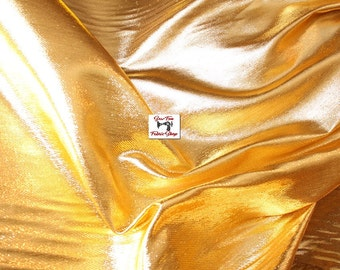 Gold Metallic Liquid Lame Fabric..great for costumes, dance, theater, formal wear, pageant.