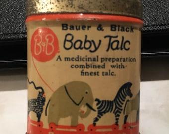 Sample size Baby Talc tin