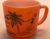 Vintage Florida Coffee Break Souvenir Cup - Wonderful Images - Excellent Condition