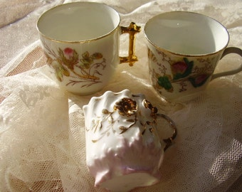 Set of Three Vintage deco Cups/Small