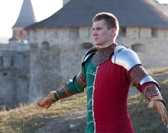 """DISCOUNTED PRICE! Steel Pauldrons """"Bird of Prey""""; Medieval Armor; Steel Armor; Steel Shoulders; Metal shoulders"""