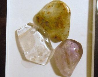 3 pc Multiple Beautiful Translucent Gemstones