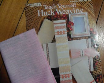 Teach Yourself Huck Weaving Book and 1/2 Yd. Huck Fabric - FREE SHIPPING