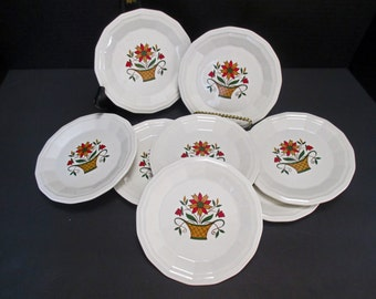 Homer Laughlin China Dover Shape Bayberry Pattern - Bread and Butter Plates - Set of 4 (2 Sets Available)