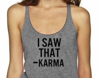 Karma Tank Top, Yoga Top, Running Shirt