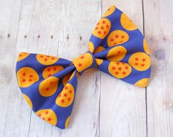 DBZ Inspired Bow // Goku, Vegeta, Gohan, Saiyan, Shounen, Anime, Manga