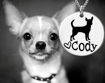 Chihuahua Necklace   Chihuahua Jewelry   Personalized Dog Necklace   Dog Gift   Personalized Gifts   Korena Loves