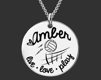 Volleyball Necklace | Volleyball Jewelry | Daughter Gift | Teen Gifts | Granddaughter Gifts | Personalized Gifts | Korena Loves