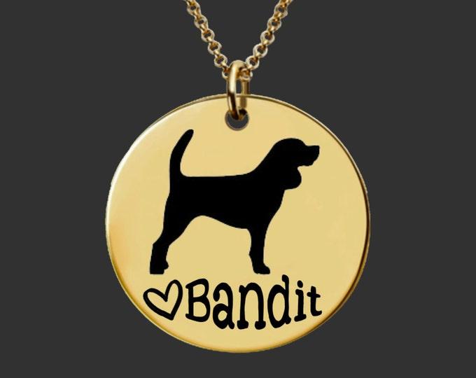 Gold Necklace   Dog Necklace   Dog Jewelry   Dog Pendant   Personalized Dog Necklace   Personalized Gifts   Korena Loves