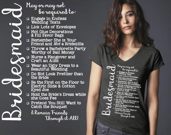 Bridesmaid Gift | Will You Be My Bridesmaid | Bridesmaid Shirts | Bridesmaid | Bridesmaid T-shirt | Bridesmaid Checklist | Korena Loves