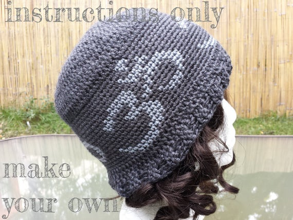 INSTRUCTIONS ONLY - Crochet your own Om Symbol Yoga Hat Tapestry ...