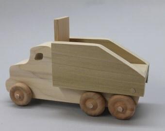 Dump truck, solid hardwood