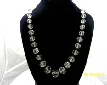 Vintage, Classic Crystal Necklace. Single Strand. Very elegant and stylish, yet still modern.