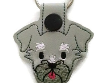 Schnauzer Key Fob, schnauzer Key Chain, Dog key chain, dog mom gift, dog dad gift, stocking stuffer