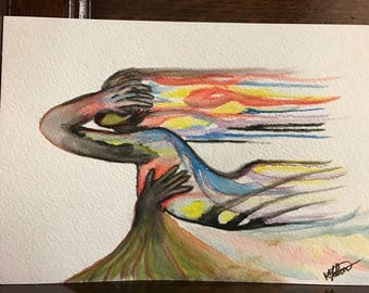 To Be Held water color