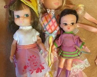 Hasbro Dolly Darling and two other vintage dolls in great condition