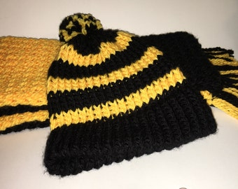 Harry Potter Loom Knit Scarves with Hat Option
