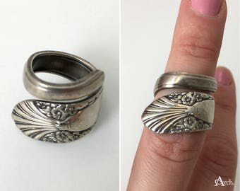 Handcrafted Upcycled Spoon Ring - Approx. Size 5