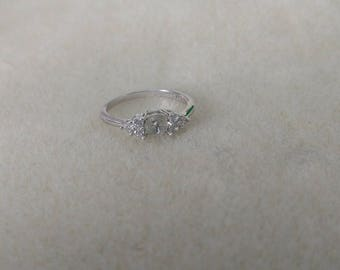 MADE to ORDER!!!! Sterling Silver CZ Enhanced Ring-- Made to order with your pearl from the Pearl Party!!