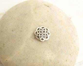 Sterling Silver Celtic Mandala Knot  -- 1  Piece
