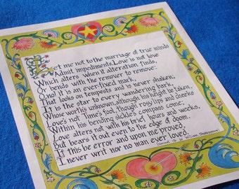 Shakespeare's Sonnet 116 Art Print// 11 x14 Art Print//Shakespeare Quote