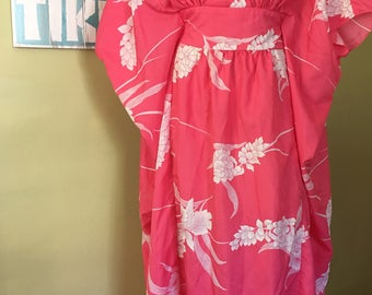 Vintage Hawaiian Caftan , One Size