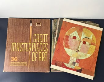 vintage Great Masterpieces of Art 36 reproductions famous art 1973 Shorewood Reproductions