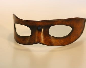 Steampunk leather mask , made to order
