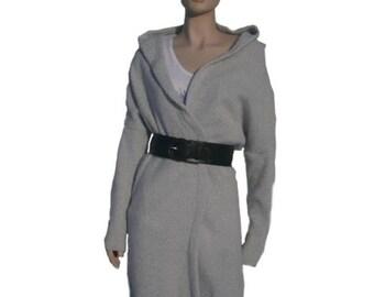Bridgit  - cardigan light gray or dark gray, long sleeves sweater,size XS-L