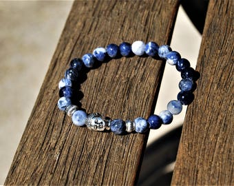 Sodalite Wisdom Bracelet /Yoga Bracelet/Healing Gemsone/Prayer Bracelet