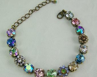 Swarovski Crystal Bacelet, Tennis Bracelet, Cup Chain Bracelet, Chaton Bracelet, Rivoli Bracelet, Swarovski Flower Bracelet, 39ss, Cup Set