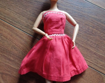 Vintage Strapless Red Sundress for Barbie and Friends