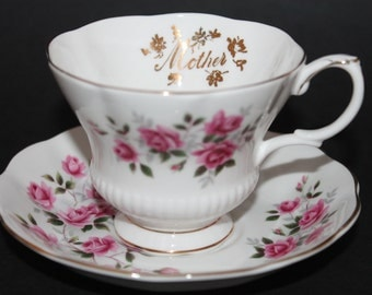 "Royal Albert Bone China Teacup and Saucer Set.  ""Mother"""
