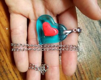 Legend of zelda heart piece necklace