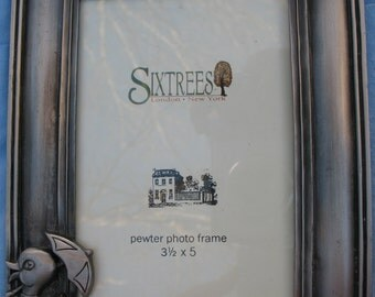 "Sixtrees Pewter Duck Picture Frame-Fits 3.5"" x 5"" picture"