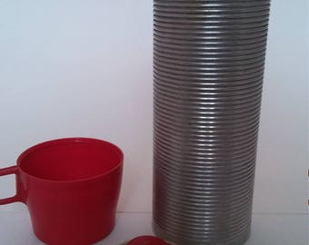 Vintage Thermos Brand Thermos, Pint Size with Red Cup