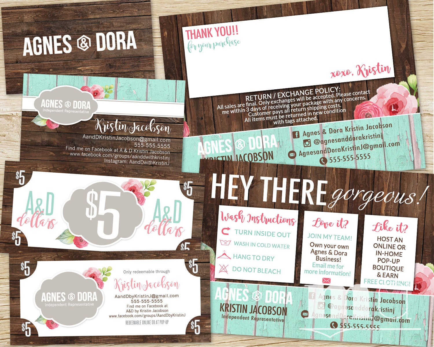 Design Business Cards Online Free Print Home   Agnes And Dora Small Business  Kit Bundle Business