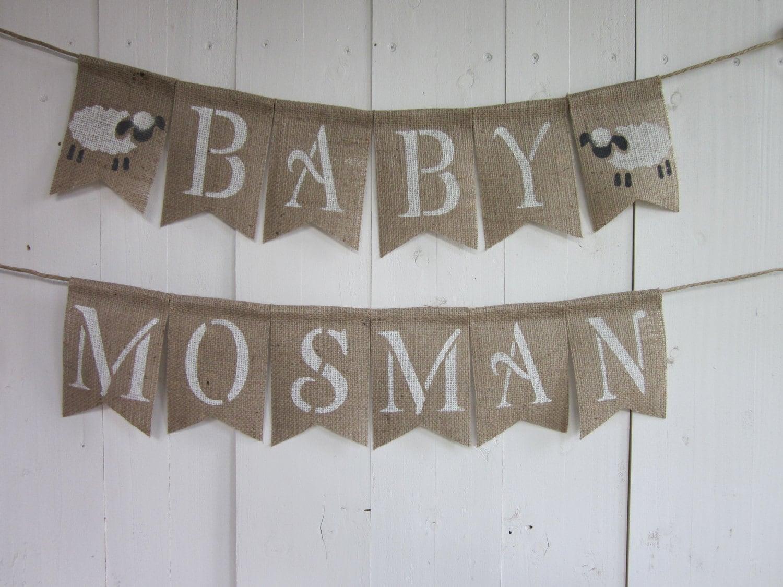 lamb baby shower banner lamb shower bunting lamb baby