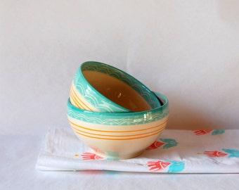 Best friends bowls Two bowls Ceramic bowls A pair of bowls Pottery bowls Soup bowls Breakfast bowls Ceramic and pottery Modern ceramics