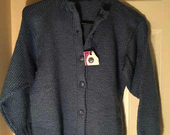 Hand made Knit Child size 12 sweater