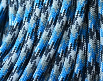 blue camo 550 paracord by Atwood made in USA