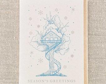 Seasons Greetings Tree House