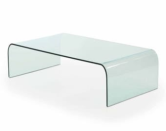 Waterfall Glass Coffee Table by Angelo Cortesi for Fiam Italia, c. 1980